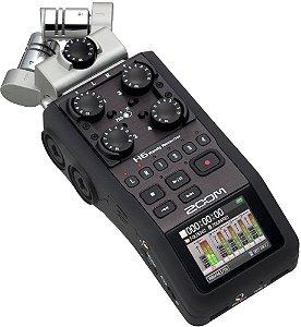 Zoom H6 Black - Gravador de áudio Digital 6 Canais