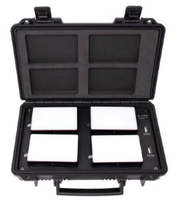 Kit 4x Aputure MC com case carregador (Travel Kit)