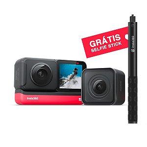 Insta360 One R Twin Edition Câmera de Ação + Pau de Selfie Invisível