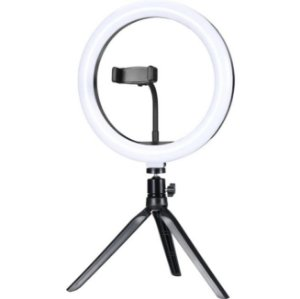 "Ring Light de Mesa LED 10"" ILUM-R10W12 EXBOM"