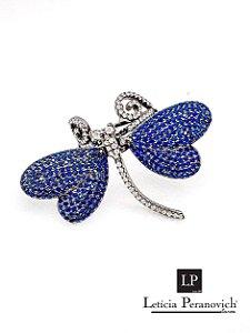 Anel Libelula Azul