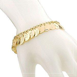 Pulseira de ouro 18 k e esmeralda