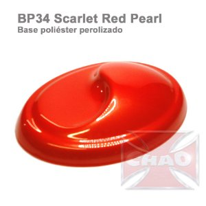 Scarlat Red poliéster perolizada