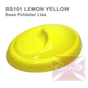 Lemon Yellow poliéster liso