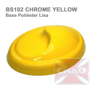 Chrome Yellow poliéster liso