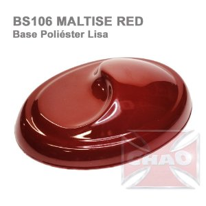 Maltise Red poliéster lisa
