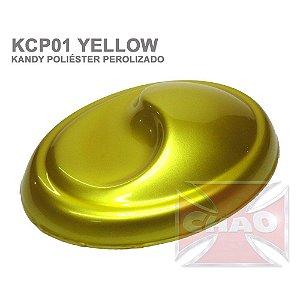 Yellow Kandy Perolizado Poliéster