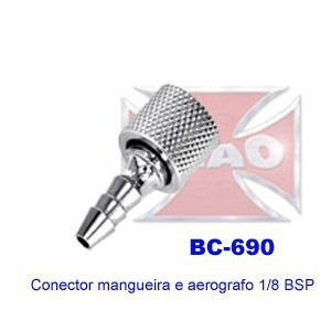 Conector p/ mangueira ar 1/8 BSP