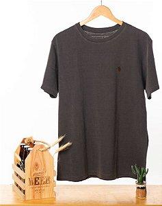 Camiseta Bordada Chumbo Stone