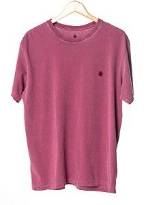 Camiseta Bordada Vinho