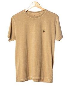 Camiseta Bordada Areia