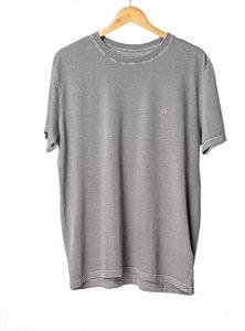 Camiseta Bordada Cinza