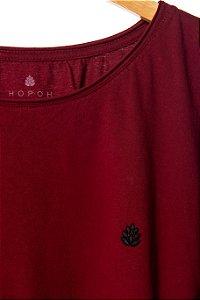 Camiseta Lúpulo Bordado Style - Bordô