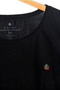 Camiseta Lúpulo Bordado Style Preta