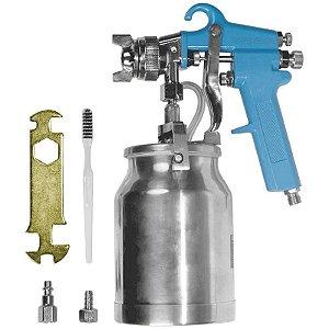 Pistola para Pintura por Sucção com Bico 2mm e Caneca de 1000ml - GAMMA-G1184/BR