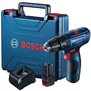 Parafusadeira Furadeira Impacto 12V com 2 Baterias, Carregador Bivolt e Maleta GSB 120-LI - BOSCH-06019G81E0-000