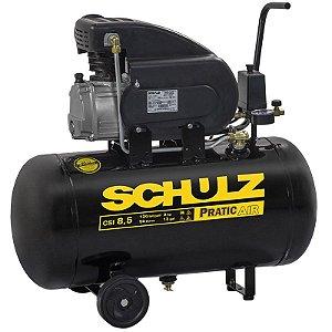 Motocompressor de Ar Pratic Air CSI 8,5 Pés 2HP 50 Litros - SCHULZ