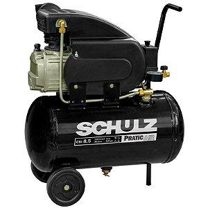 Motocompressor Pratic Air 8,5 Pés 2 HP 25L Monofásico - SCHULZ-CSI-8525-AIR