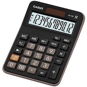 Calculadora De Mesa Com Bateria Solar Casio 12 Dígitos Mx-12b