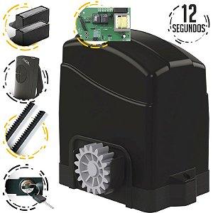 Kit Motor Portão Deslizante Eletrônico 3 Mts Agl Trino 300 Light
