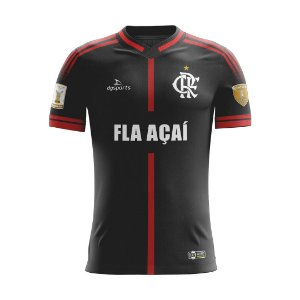 Camisa Fla Açaí 20/21 Preta Masculina