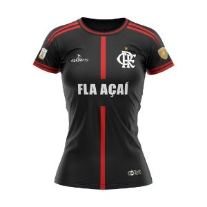 Camisa Fla Açaí 20/21 Preta Feminina