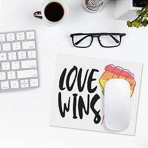 Mousepad Love Wins - Orgulho LGBT