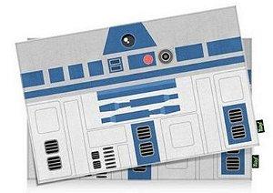 Jogo Americano Side Faces R2 azul - 2 peças - Jogo Americano Geek