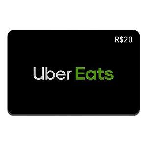 Gift Card Uber Eats R$20