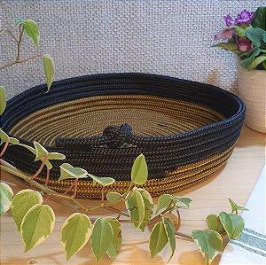 bandeja dourada e preta - linha ecológica - G