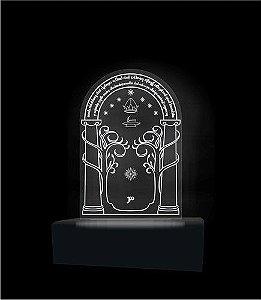 Luminária em Acrílico - Geek - Senhor dos Anéis