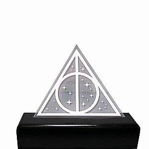 Luminária em Acrílico - Geek - Relíquias da Morte