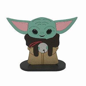 Boneco Baby Yoda Segurando Esfera Star Wars The Mandalorian