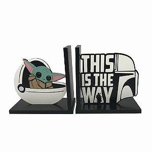 Aparador de Livro e CD - Capsula Baby Yoda Star Wars