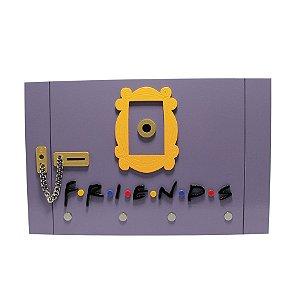 Porta Chave de Casa Madeira Laqueado - Seriado Friends
