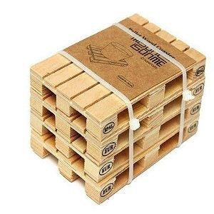 Porta Copos Pallet Wood Coaster - 4 Unidades