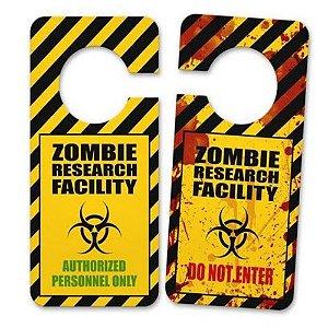 Aviso De Porta Zombie Research Facility
