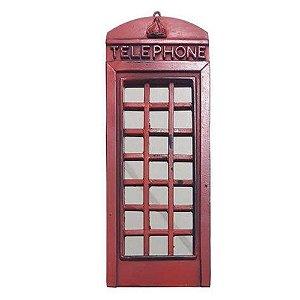 Enfeite Rústico Com Espelho Cabine Telefônica Londres