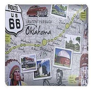 Placa De Metal Route 66 Oklahoma