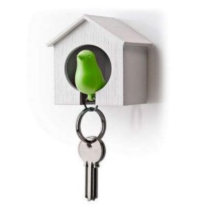 Porta Chaves Passarinho Sparrow Key Ring - Verde