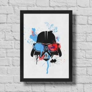 Quadro A3 Geek Side - Splash Vader - 30 X 42 Cm