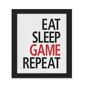 Quadro A4 Gamer Eat Sleep Game Repeat