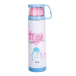 Squeeze Térmica 475Ml Com Caneca - Obrigado Mãe