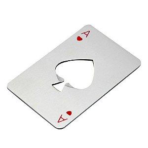 Abridor de Garrafa Poker Card Copas