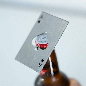 Abridor de Garrafa Poker Card Espadas