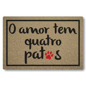 5 Capachos Linha Tapets O amor tem Quatro Patas