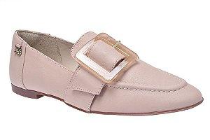 Sapato Loafer Parô 3052652 Fivela Rosê