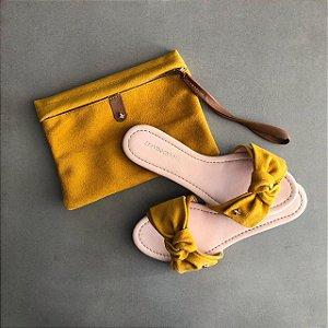 Rasteira Cravo & Canela Com Necessaire Amarela