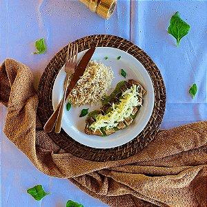 Comida Congelada – Filé de Frango Grelhado com Creme de Espinafre – 350g – FoodLev