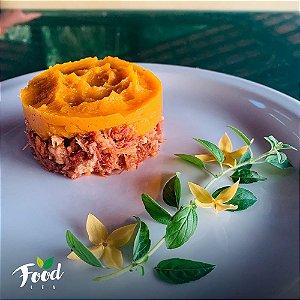Comida Congelada – Escondidinho de Abóbora com Carne Seca – 350g – FoodLev